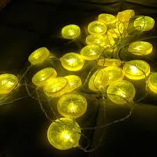 Đèn led 20 lát chanh 2019 dây đèn led trang trí màu vàng chanh - Đèn trang  trí Thương hiệu OEM
