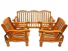 teak wooden sofa set with cushion