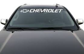 Chevrolet Vinyl Graphics S10 Blazer Chevy Avalanche Windshield Lettering Sticker Ebay