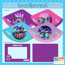 Super Monstruos Kit Imprimible Personalizado Con Candy Bar 348
