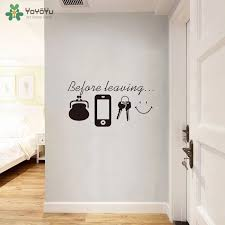 Yoyoyu Wall Decal Daily Reminder Vinyl Wall Quotes Sticker Close The Door Before Leaving Removable Home Art Decoration Qq109 Wall Stickers Aliexpress