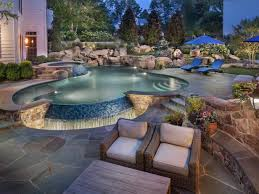 backyard waterfalls and landscaping