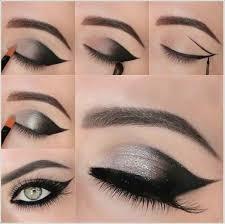 black dress eye makeup cat eye makeup