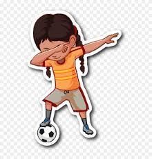 Soccer Dabbing Girl Sticker For Car Bumper Soccer Clipart 2966237 Pinclipart