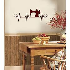 Amazon Com Sewing Machine Heartbeat Vinyl Wall Words Decal Sticker Graphic Handmade