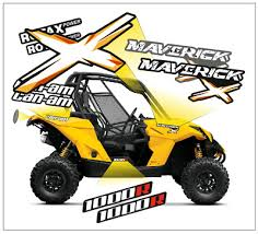 Creatorx Can Am Renegade Graphics Kit Decals Stickers Tribalx White Yellow Decals Magnets Stickers