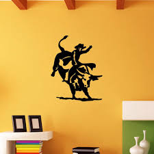 Bull Riding Detailed Rodeo Bullriding Graphic Wall Sticker Vinyl Decal Personality Living Room Bedroom Art Decor Art Decor Vinyl Decalwall Sticker Aliexpress