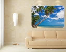 Caribbean Wall Prints Sticker Mural Vinyl Art Home Decor Contemporary Wall Decals By Style And Apply