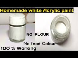 homemade acrylic paint homemade white