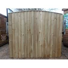 Arched Top Feather Edge Fence Panels