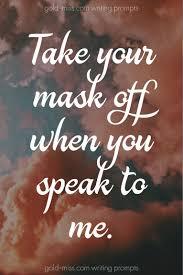 Image result for writing prompts masks