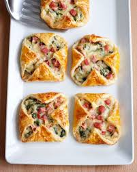 ham cheese and spinach puffs recipe