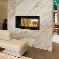 see thru gas fireplace