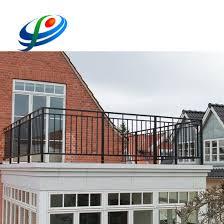 China Cheap Wrought Iron Balcony Fence Designs Galvanized Steel Safety Fence China Balcony Fence Safety Fence