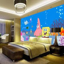 Jiashemeiju 3d Photo Wallpaper Spongebob Children S Room Cartoon Wall Decor Paper For Kids Bedroom Stereoscopic Papel De Parede Wallpapers Aliexpress