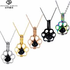 necklace stainless steel cage pendant
