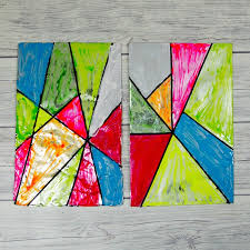 faux stained glass art for kids mum