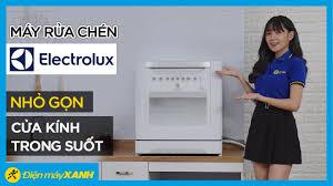 Máy rửa chén Electrolux: cửa trong suốt, rửa nước nóng (ESF6010BW) • Điện  máy XANH - YouTube