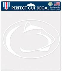 Amazon Com Wincraft Penn State Nittany Lions Ncaa Die Cut Decal 8 X 8 White Automotive