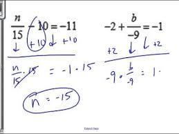 10 4 2 step equations integers you
