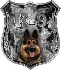 Weston Ink German Shepherd K 9 Police Dog Decas