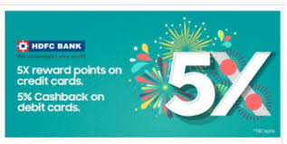 hdfc 5x reward points on credit cards