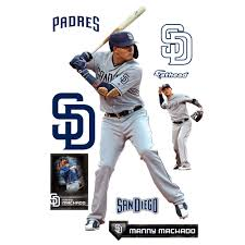 Manny Machado San Diego Padres Fathead 9 Pack Life Size Removable Wall Decal Walmart Com Walmart Com