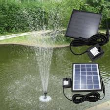 water fountain solar powered water