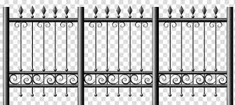 Black Metal Gate Picket Fence Chain Link Fencing Iron Fence Transparent Background Png Clipart Hiclipart