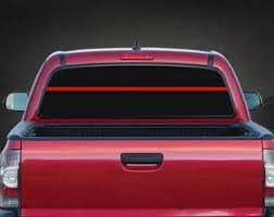 Thin Red Line Fireman Rear Window Windshield Banner Decal Sticker Custom Sticker Shop