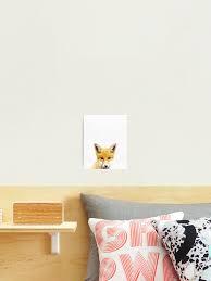 Baby Fox Print Nursery Animal Kids Room Minimalist Modern Art Wall Art Woodland Photographic Print By Juliaemelian Redbubble