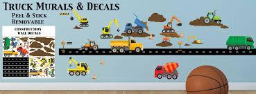 Truck Wall Decals Construction Murals Boys Room Theme Decor Ideas