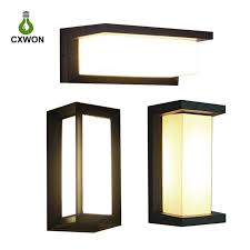 2020 modern outdoor led wall lamps bulb