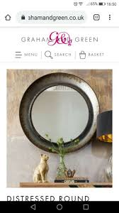 wall hanging rope mirror round
