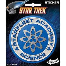 Ata Boy Star Trek Starfleet Science Academy Sticker Add Some Flair To Your Scrapbook Locker Notebook Or Computer With Iconic Pop Culture Graphics By Ataboy Walmart Com Walmart Com