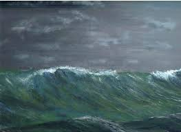 ocean storm painting in the north home