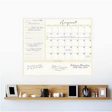 Dry Erase 1 Month Calendar Writable Dry Erase Wall Decal Wallsneedlove