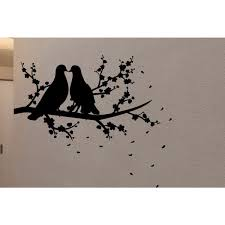 Shop Loving Doves On Branch Wall Art Sticker Decal Overstock 11596011
