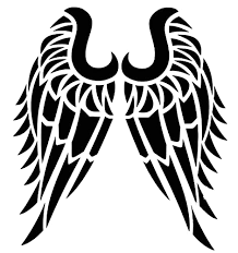Amazon Com Custom Tribal Angel Wings Vinyl Decal Personalized Bumper Sticker For Tumblers Laptops Car Windows Handmade