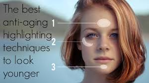 highlighting techniques to look younger