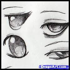 drawing anime eyes step by step anime