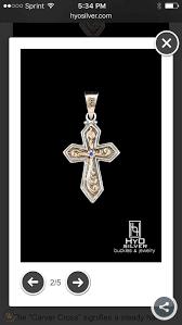 hyo sterling silver gold carver cross
