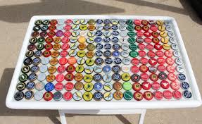 with bottle caps