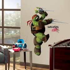 Roommates 27 5 In X 36 8 In Teenage Mutant Ninja Turtles Leo Peel And Stick Giant Wall Decals Rmk2249gm The Home Depot