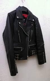 double rider biker leather jacket xs