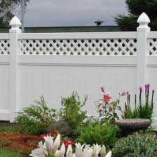 Cascade 8 Ft W X 6 Ft H White Vinyl Privacy Fence Panel With Lattice Simple Fencing Simplefencing Co Uk