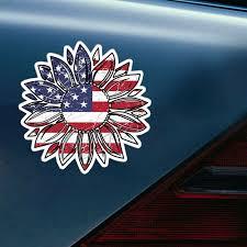 Auto Parts Accessories American Flag Car Truck Window Decal Smaitarafah Sch Id