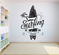 Surfboard Decals Wall Ph Surf Decor Custom Design Ebay Canvas Stickers Vintage Tapestry Vamosrayos