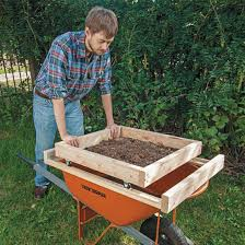 how to make a soil sifter diy