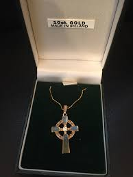 celtic cross necklace with connemara